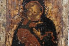 Икона Владимирской Божией Матери. 17 век. Икона после расчистки.