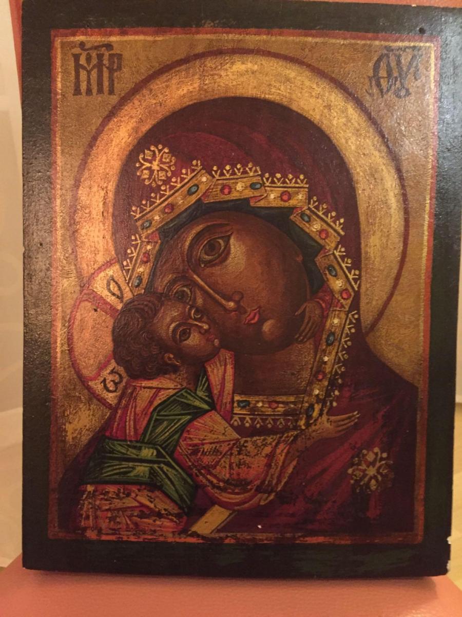 Икона Владимирской Божией Матери. Новодел.